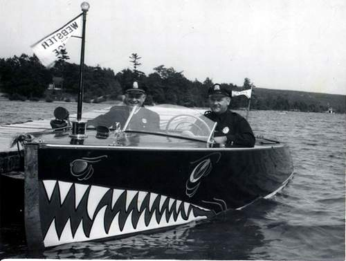 Police Boat on the Lake, circa 1952