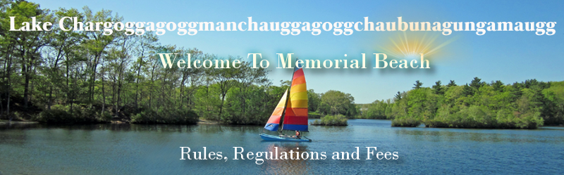 Welcome to Memorial Beach - Rules, Regulations, and Fees